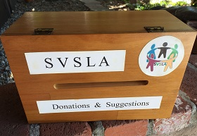 SVSLA Donation/Suggestion Box handcrafted by Ken Simpkins